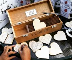 Wedding Guest Signing Box with Hearts